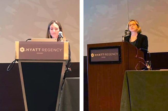Molly Joyce and Kate McKenna present at the 45th annual Association for Behavior Analysis International Conference in Chicago, Illinois.