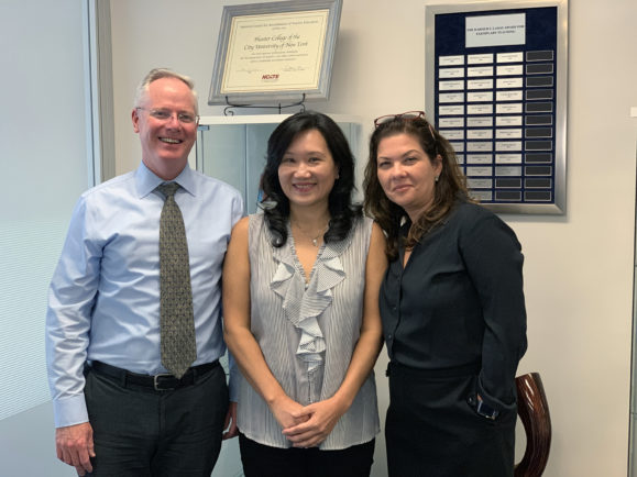Michael Middleton, Peggy Chen and Elizabeth Da Silva Cardoso